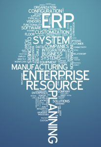 Word Cloud with Enterprise Resource Planning related tags