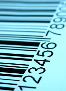 bar code with numbers on tinted background