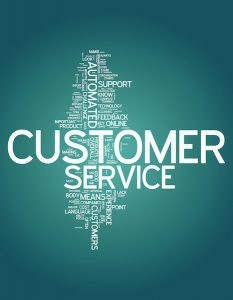Word Cloud with Customer Service related tags